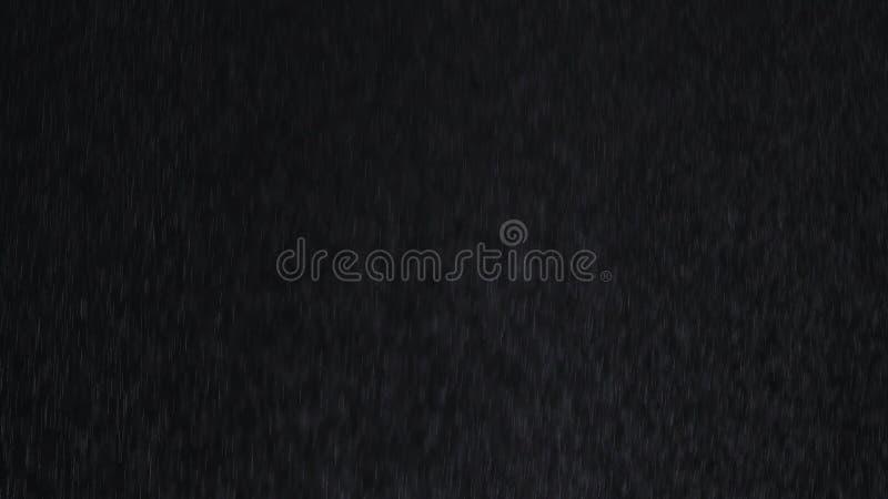 Rain on black background stock image