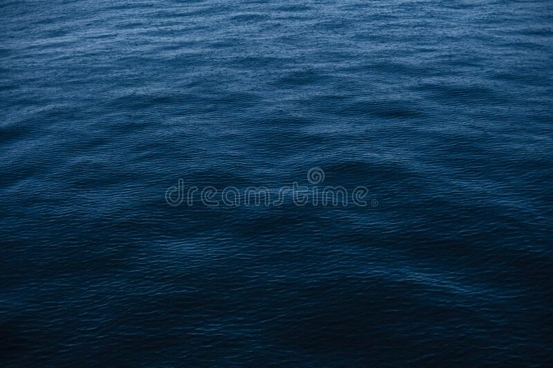 Rain on blue waters stock images
