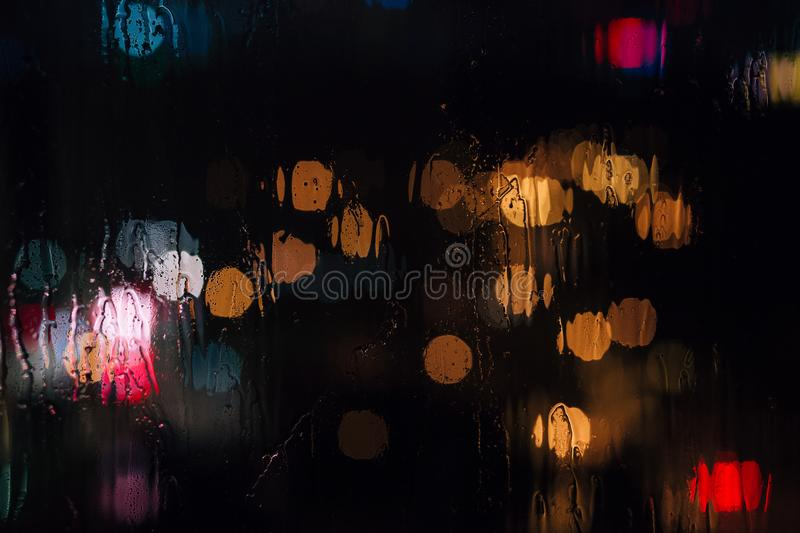 Rain bokeh royalty free stock photo
