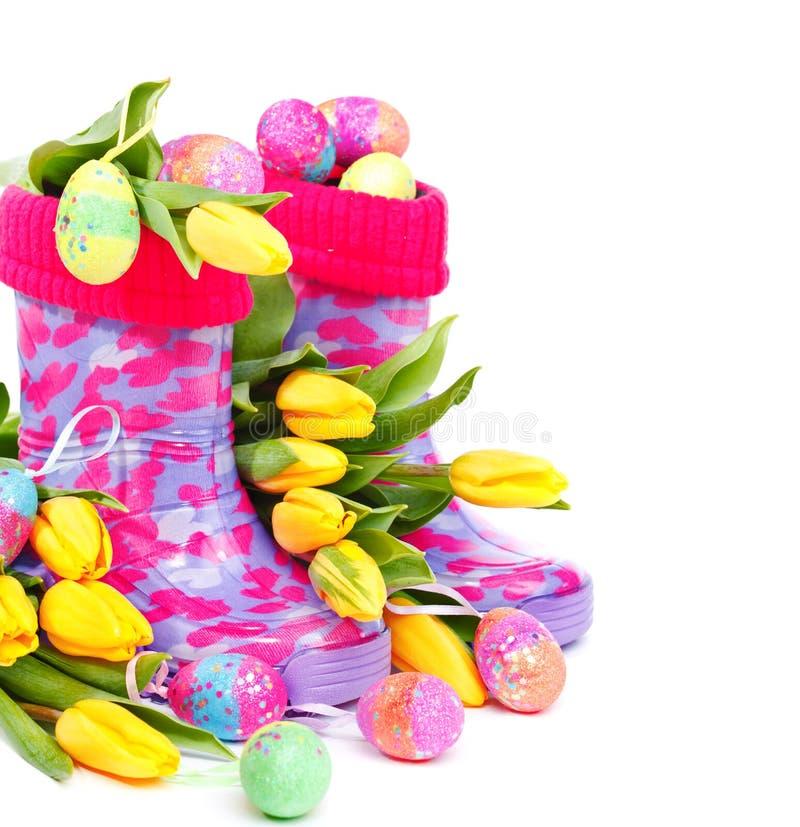 Download Rain boots stock image. Image of flower, blossom, rain - 22927929