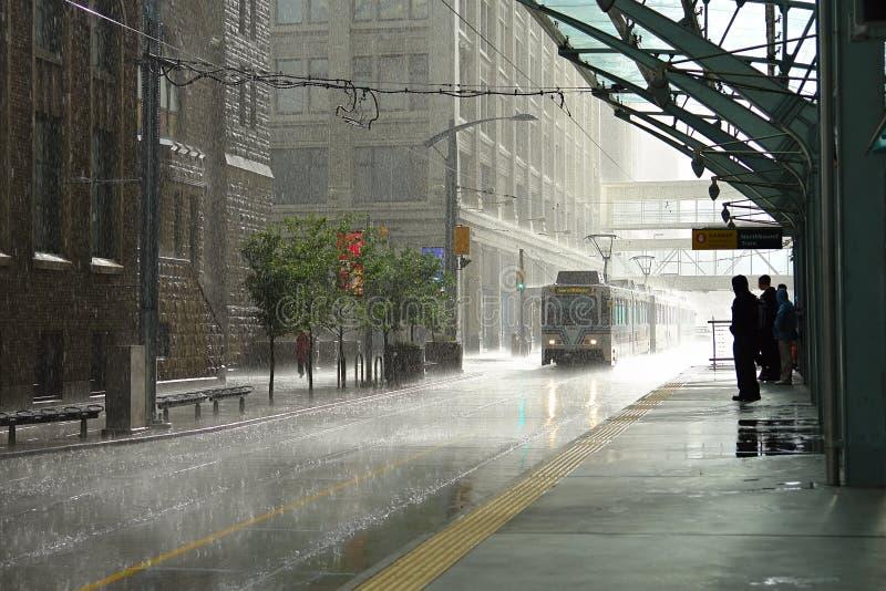 Rain In Calgary Stock Photo