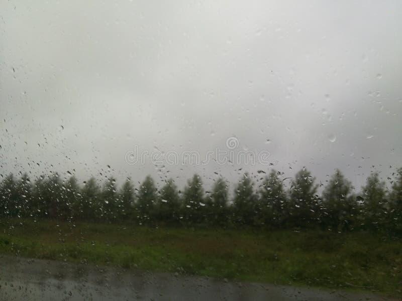 Rain On The Car`s Window stock photography