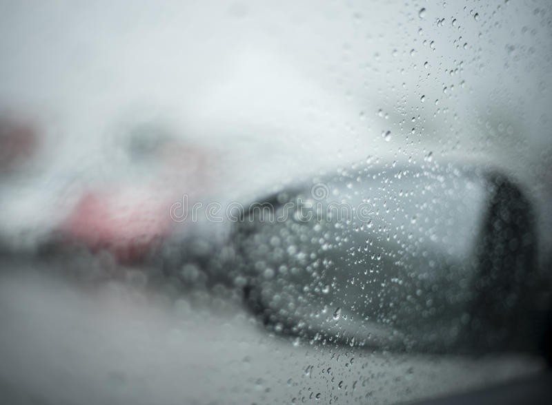 rain on car royalty free stock images