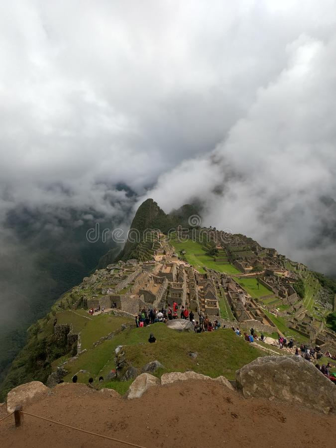 Machu Picchu in the Clouds royalty free stock image