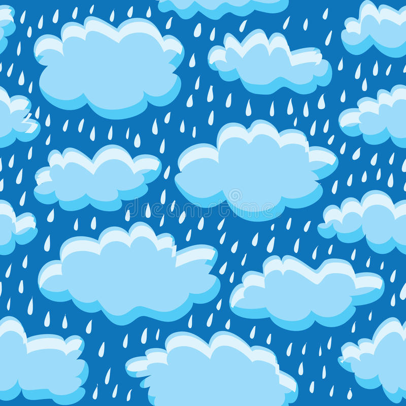 Download Rain clouds and rain stock vector. Image of part, shape - 35230259