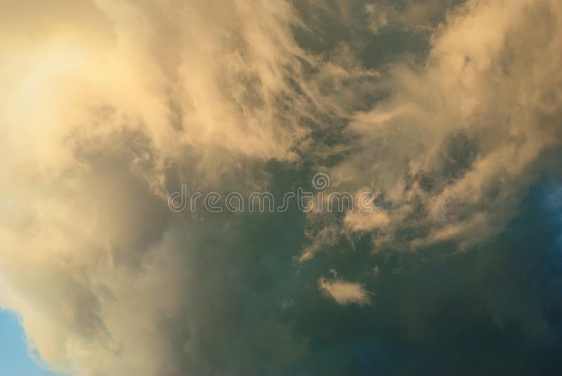 Rain clouds before the storm. royalty free stock image