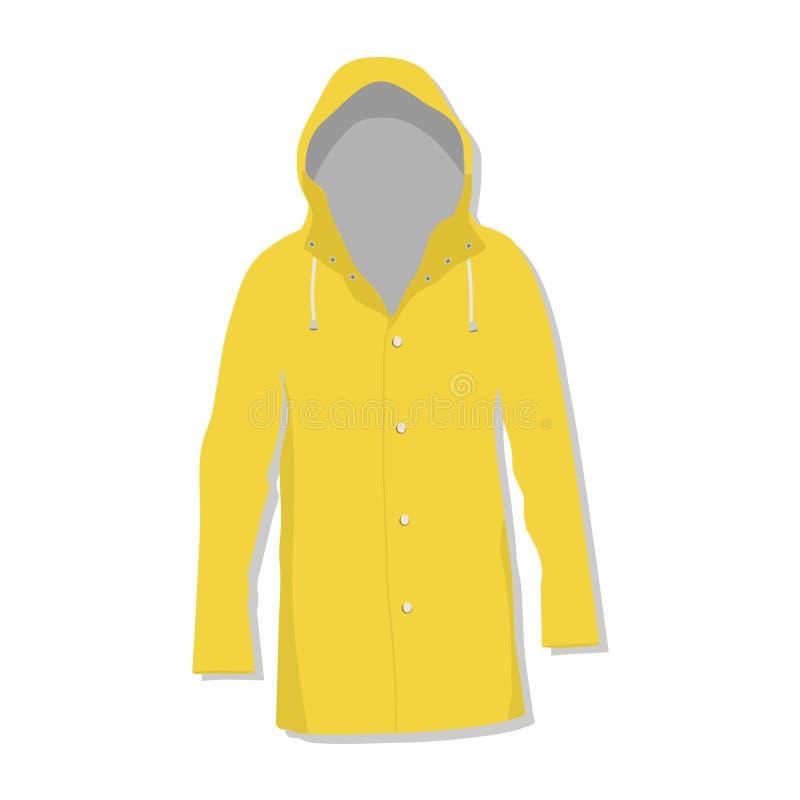 Rain coat. Rain jacket,  isolated, raincoat vector illustration