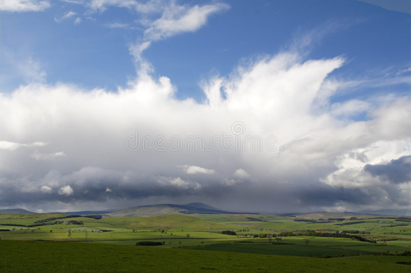 Download Rain a coming stock photo. Image of hills, fields, view - 2403884