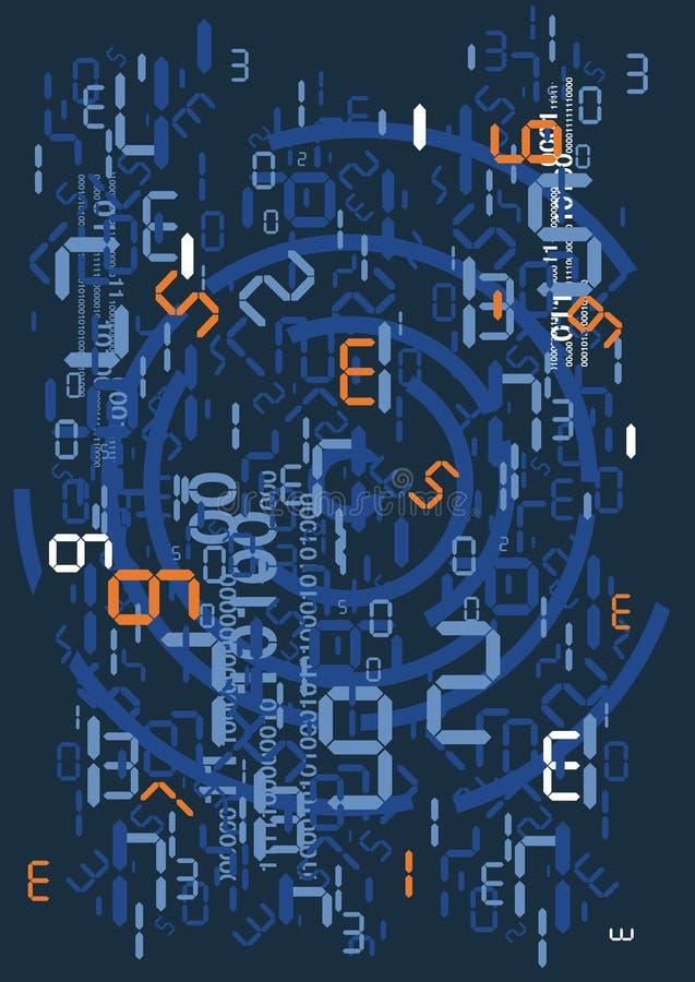 Rain of digital numbers stock illustration
