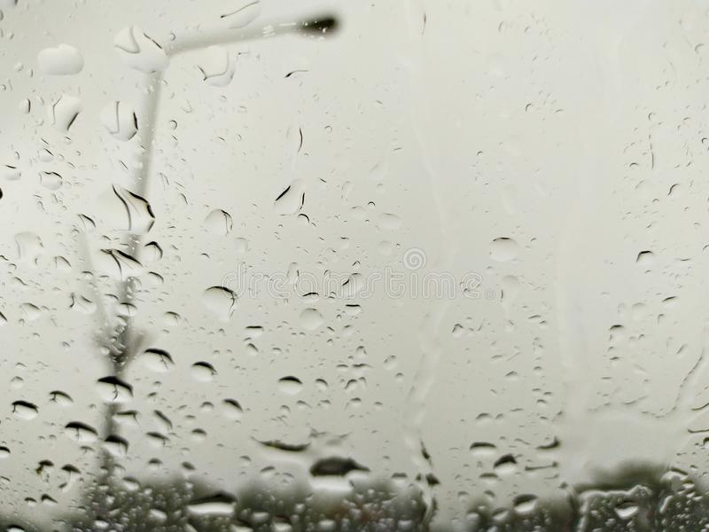 Rain drop look through Windshield stock image