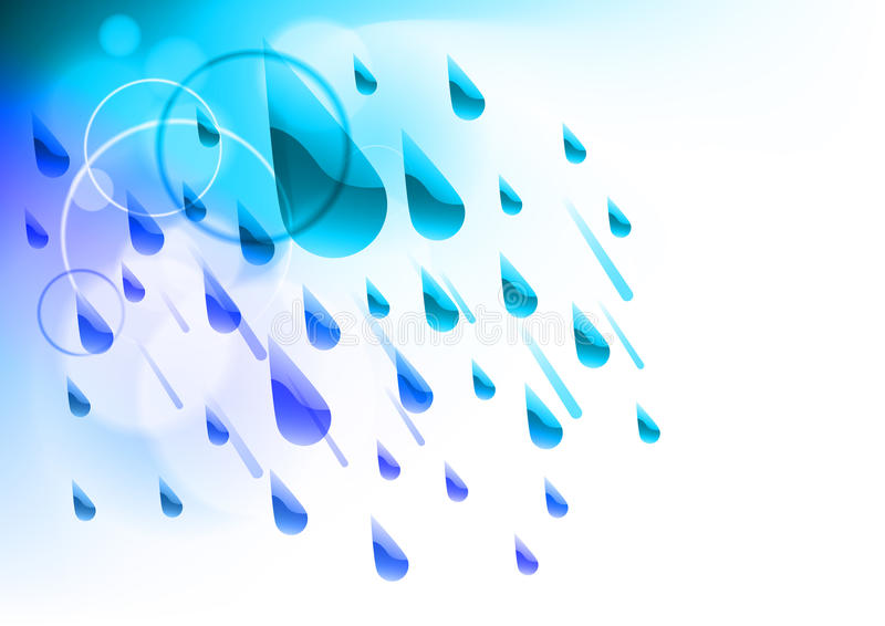 Rain drops stock illustration