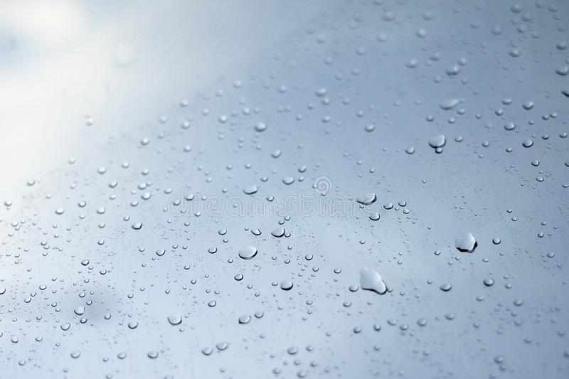 Rain drops on clear glass, rain droplets. Use for background stock images