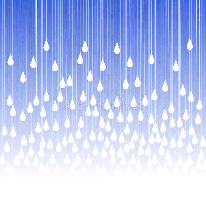 Rain drops and fog greeting card stock illustration