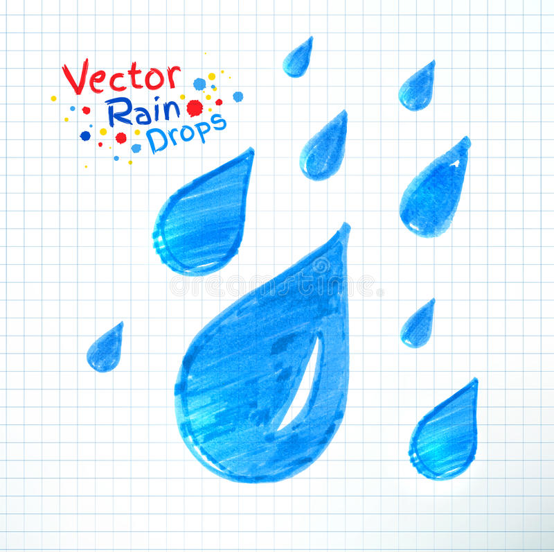 Rain drops vector illustration