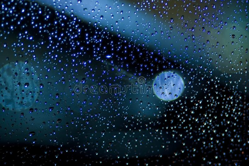 Rain Drops On A Window stock image