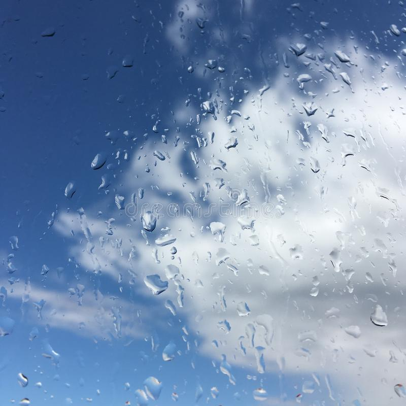 RAIN DROPS ON WINDOW royalty free stock images