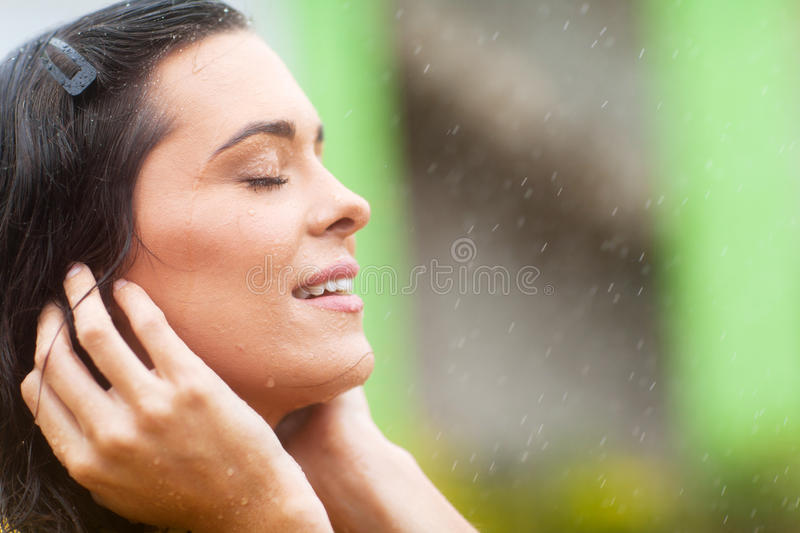 Download Rain falling on face stock photo. Image of face, lifestyle - 28593374