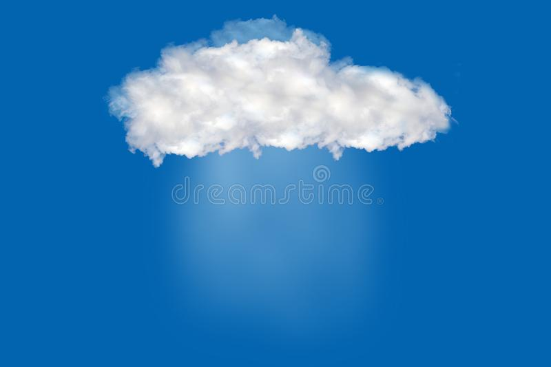 Rain is falling from the floating clouds royalty free stock photography