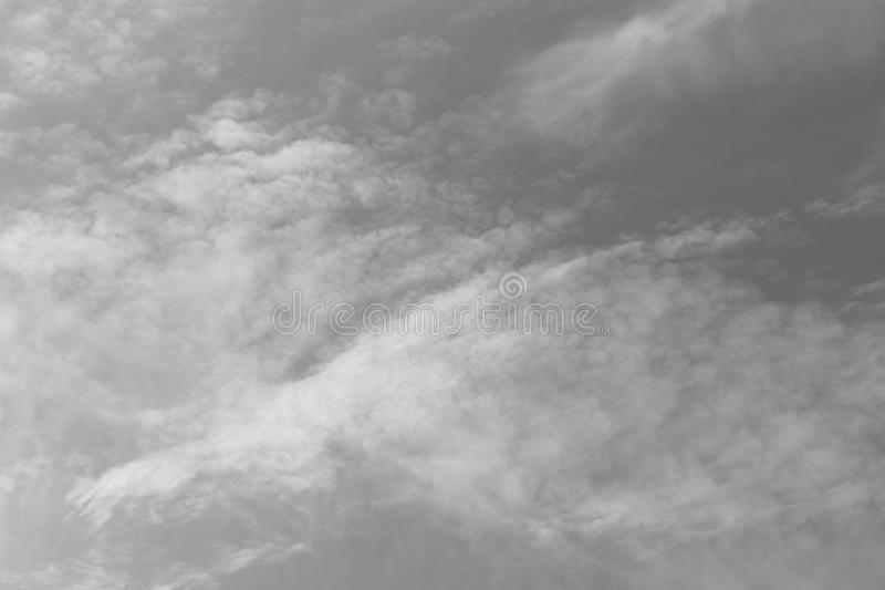 Before the rain fell, the clouds gathered together in the darkness of the sky. stock image