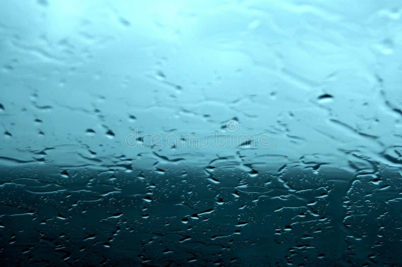Rain on the glass stock image