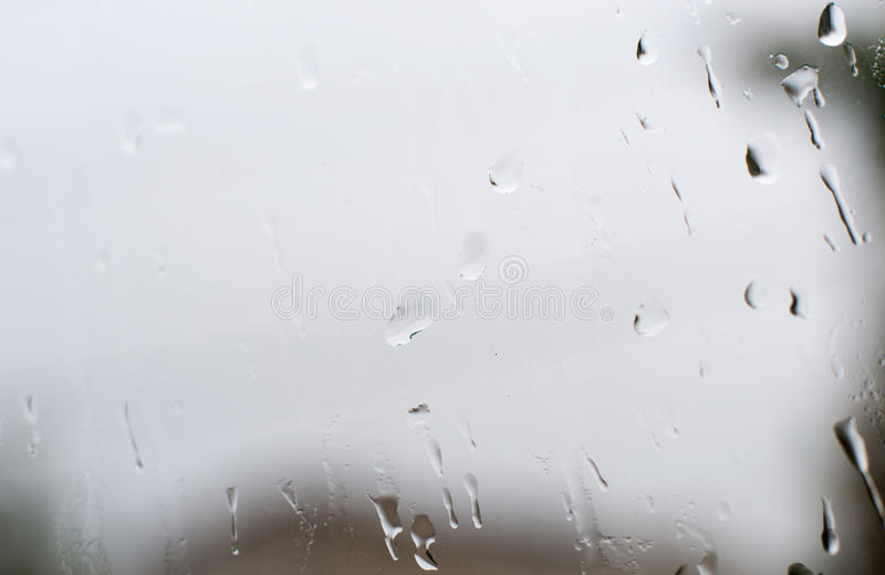 Rain on glass. Of the window royalty free stock photography
