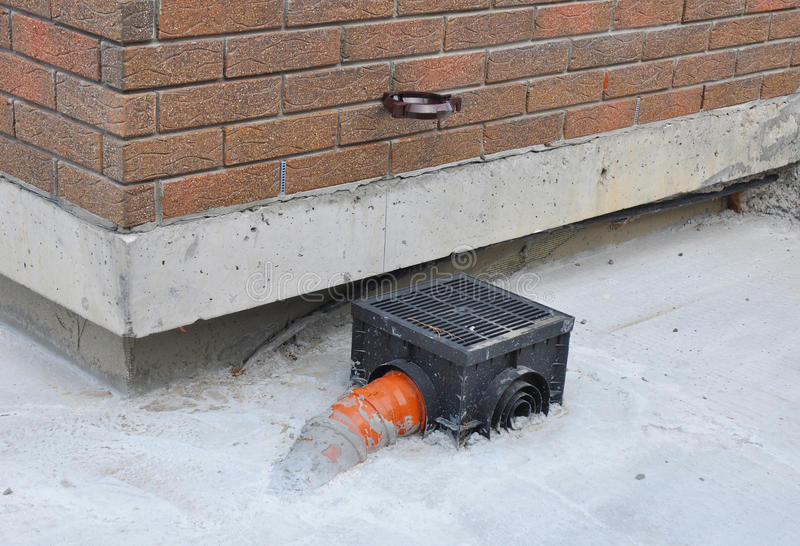 Rain gutter with new installed underground drainage system for Rain drainage system