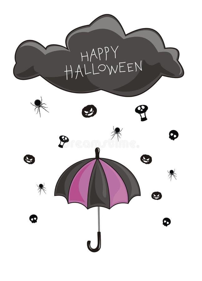 Rain on a Halloween royalty free illustration