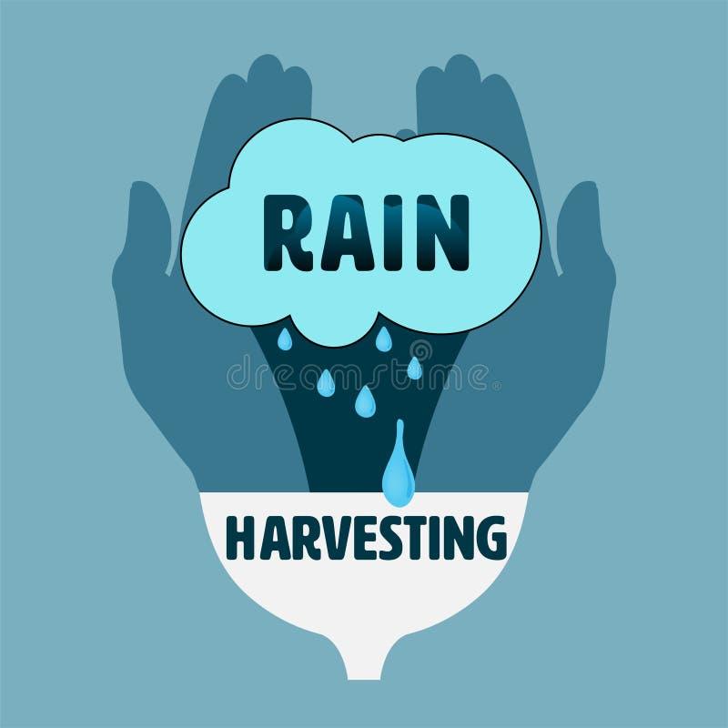 Free Rain Harvesting Palm Stock Images - 187830464