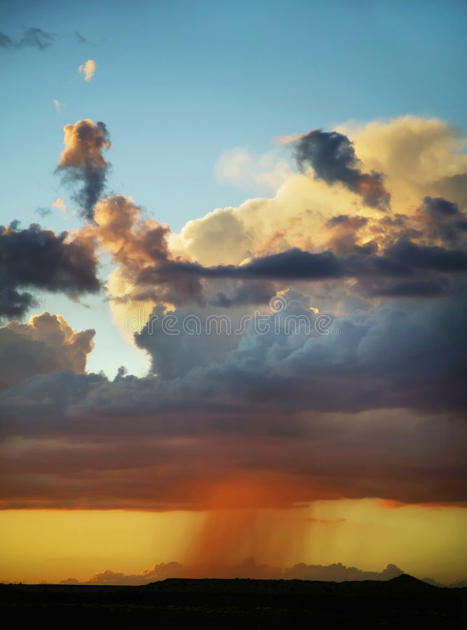 Rain on the Horizon Vertical royalty free stock photography