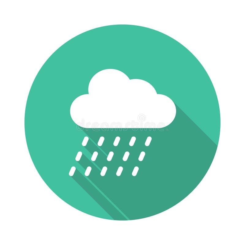 Rain Icon. Rain vector Glyphs Shadow Icon royalty free illustration