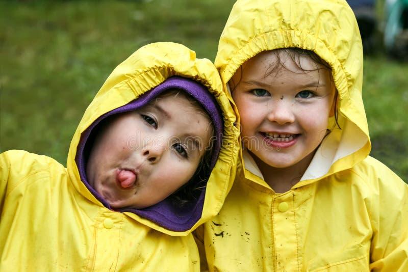Rain_kids stock photo