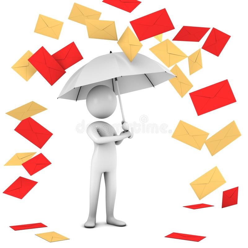 Download Rain Of Mail. stock illustration. Image of accessibility - 15087556