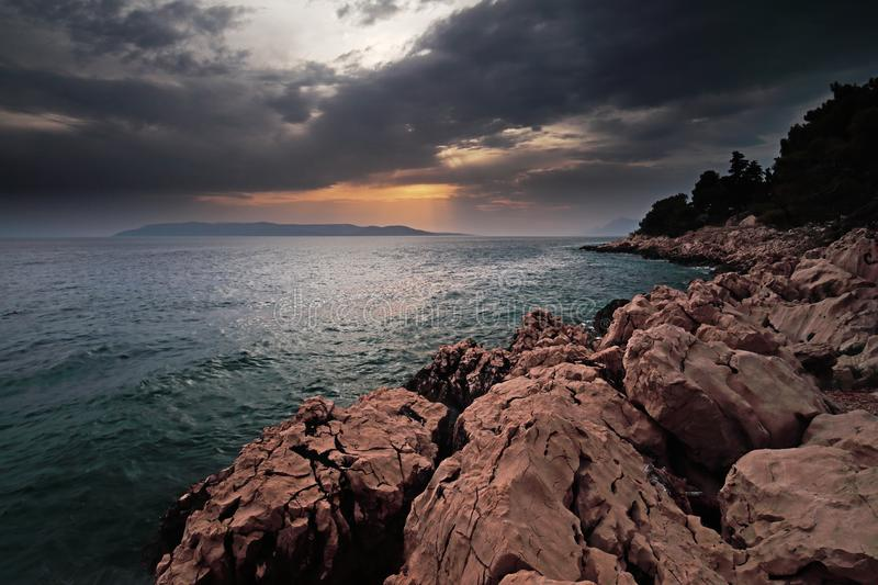 After the rain in Makarska royalty free stock images