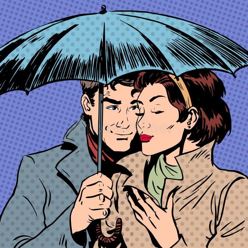 Download Rain Man And Woman Under Umbrella Romantic Stock Vector - Illustration of care, date: 55328955