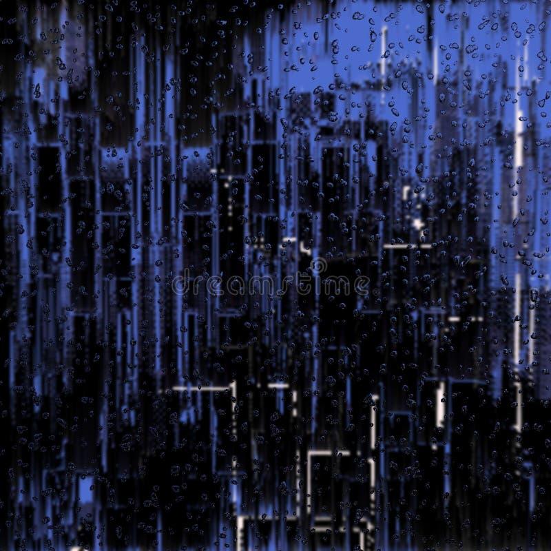Rain in metropolis royalty free illustration
