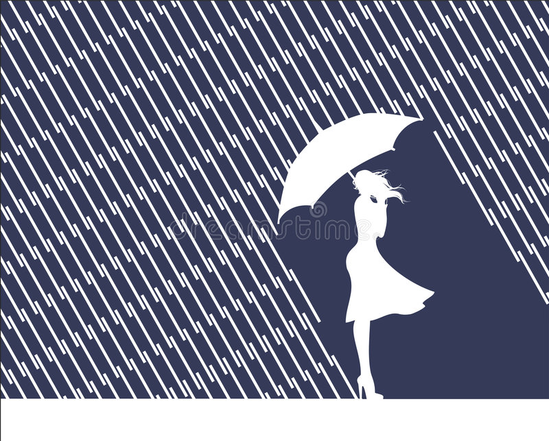 Download Rain and mind stock vector. Illustration of sadness, season - 6484413