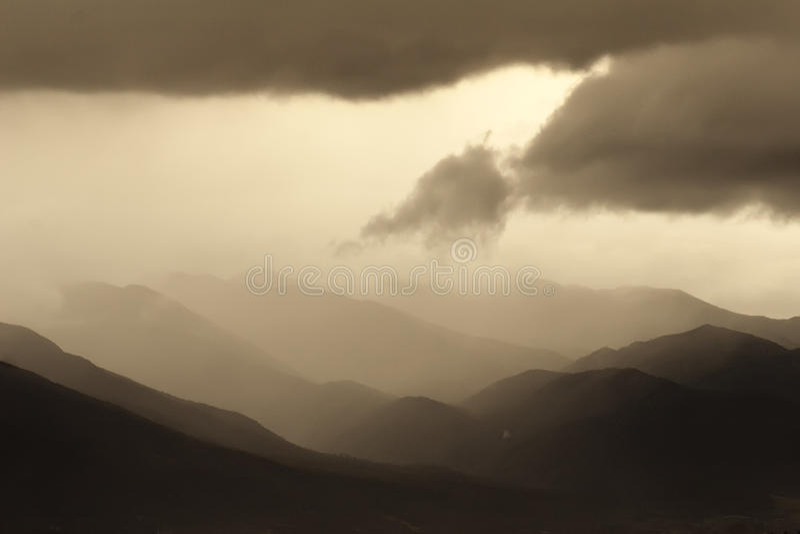 Rain In The Mountains Royalty Free Stock Photos