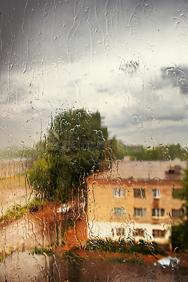 Download Rain outside the window stock image. Image of backgrounds - 5802471