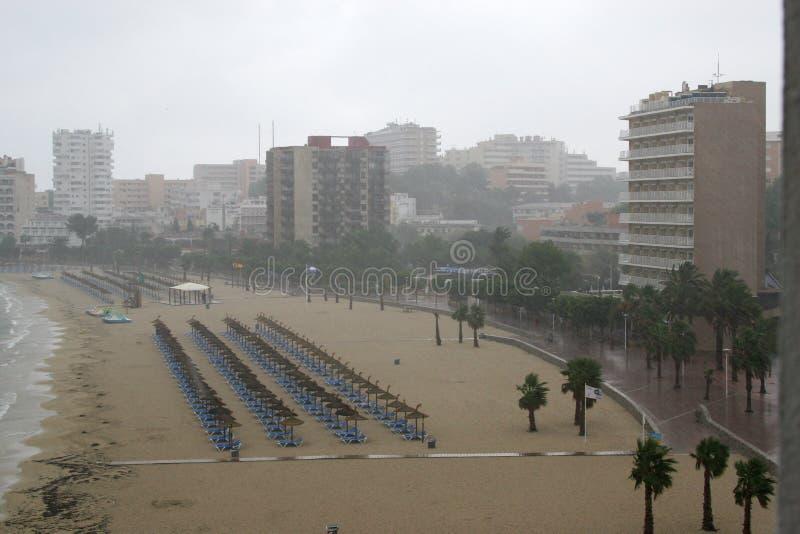 Download Rain at Palma Nova stock photo. Image of weather, palma - 11565726