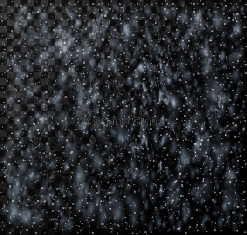 Rain pattern, realistic rain with snow, vector vector illustration