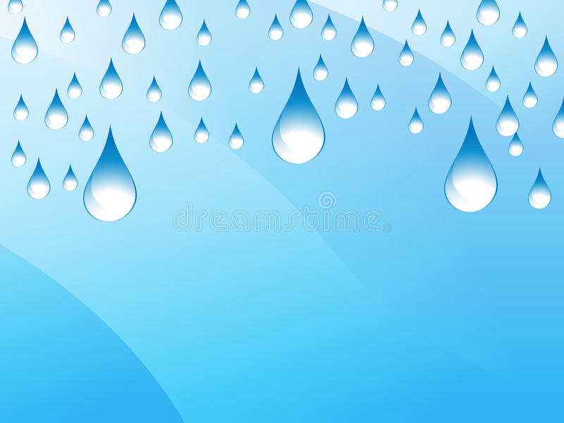 Rain Presentation Background. An image of a presentation background - rain drops vector illustration