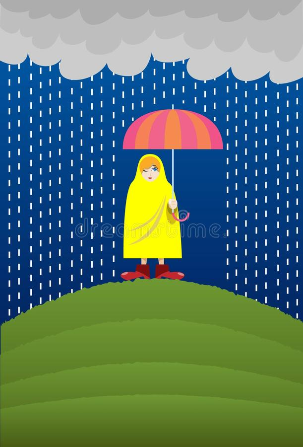 Download Rain, Rain Go Away, Come Another Day! Stock Illustration - Image: 11897805
