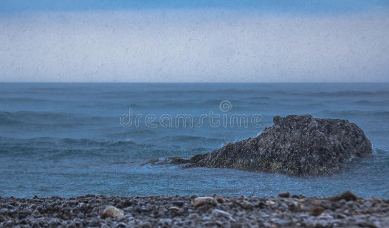 Download Rain On The Sea Stock Image - Image: 26526301