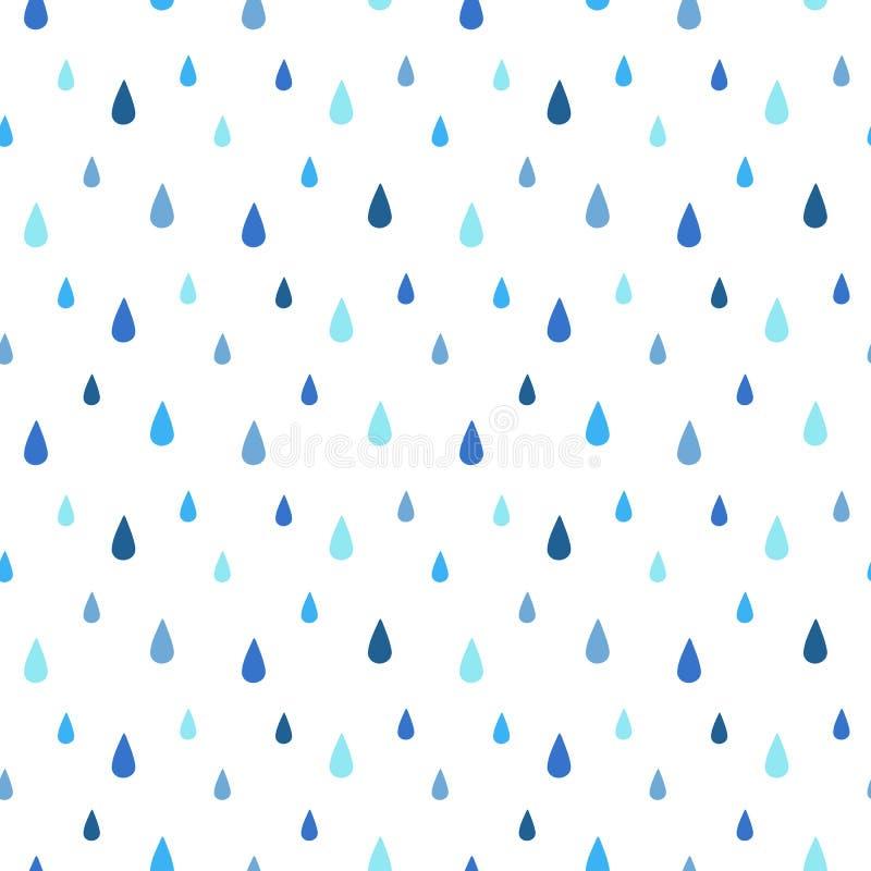Rain seamless vector pattern stock illustration