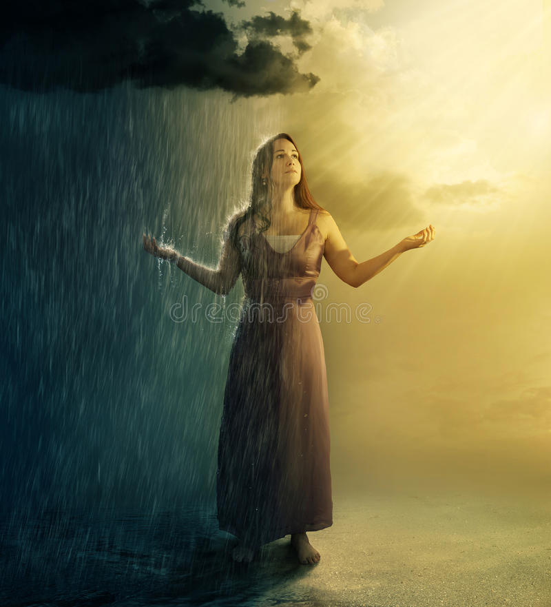 Rain or Shine royalty free stock photos