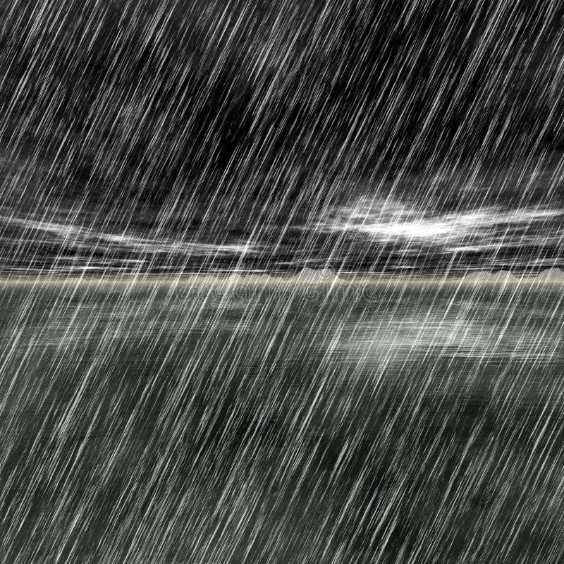 Rain shoreline royalty free illustration