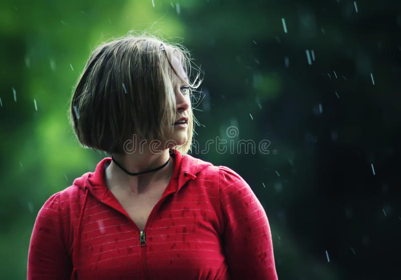 Rain shower royalty free stock images