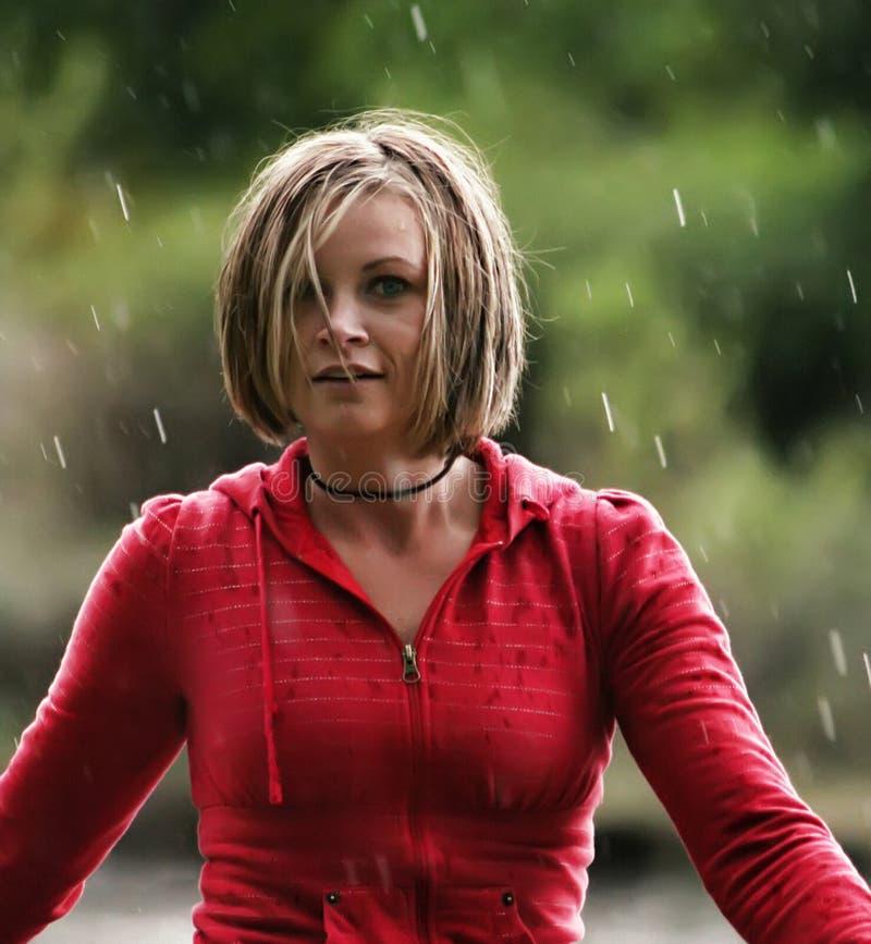 Rain shower stock photo