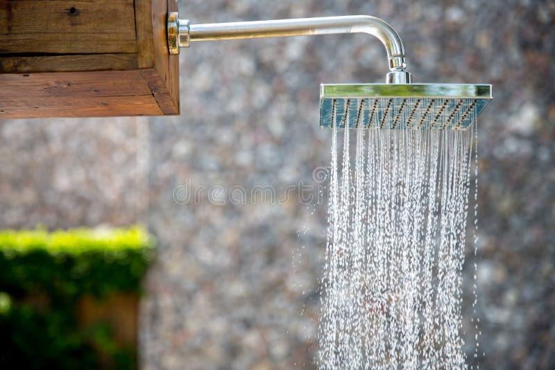 Rain shower outdoor stock photo