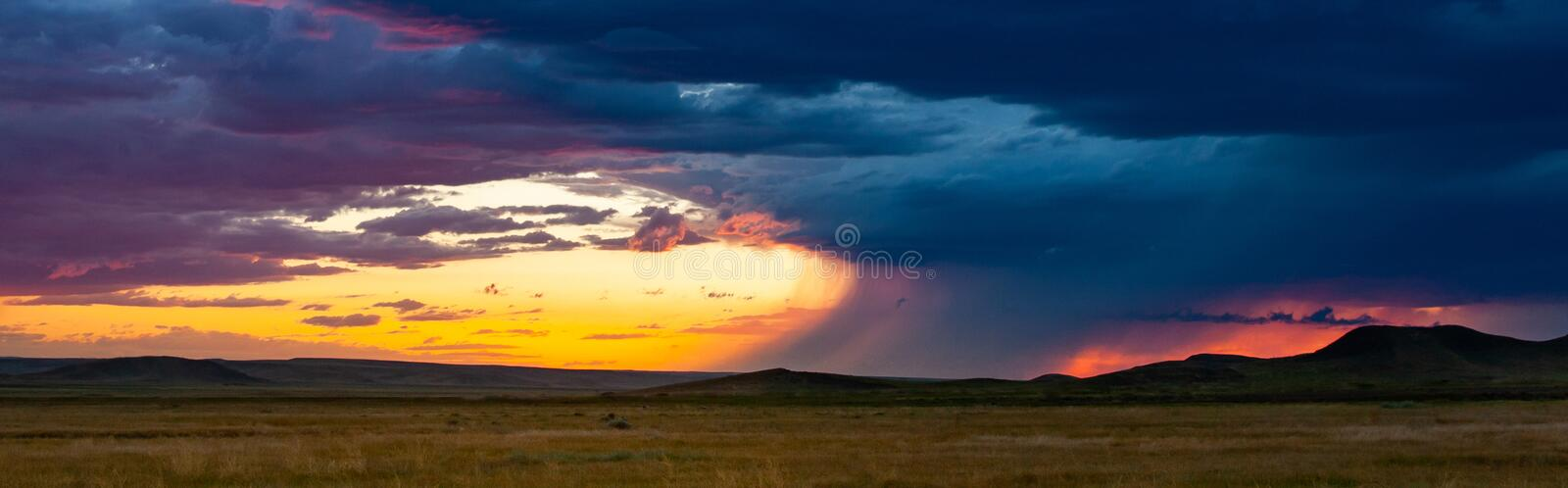 Stormy Skies over Big Sky Country stock image